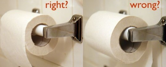 Toilet Paper Should Go Over The Front Of The Roll